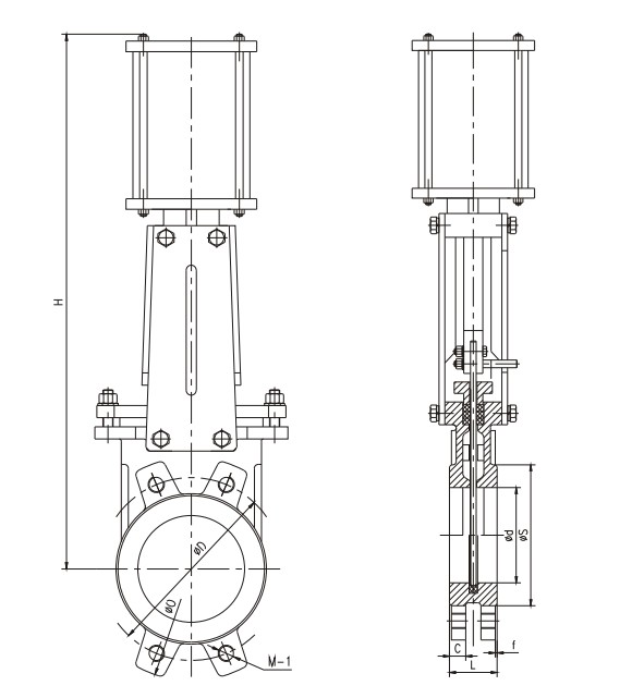 电动刀型闸阀
